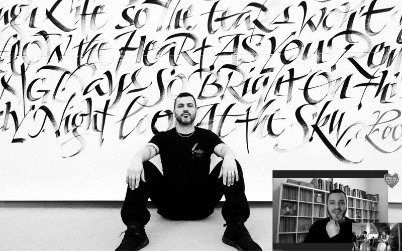 """<span class=""""up-title"""">Luca Barcellona/IAM 2020</span><span class=""""mid-title"""">東京に恋をした書師ルカ・バルチェッローナと文字</span><span class=""""sub-title"""">A, B, C... e tutte le altre lettere di Luca Barcellona, il calligrafo innamorato di Tokyo</span>"""
