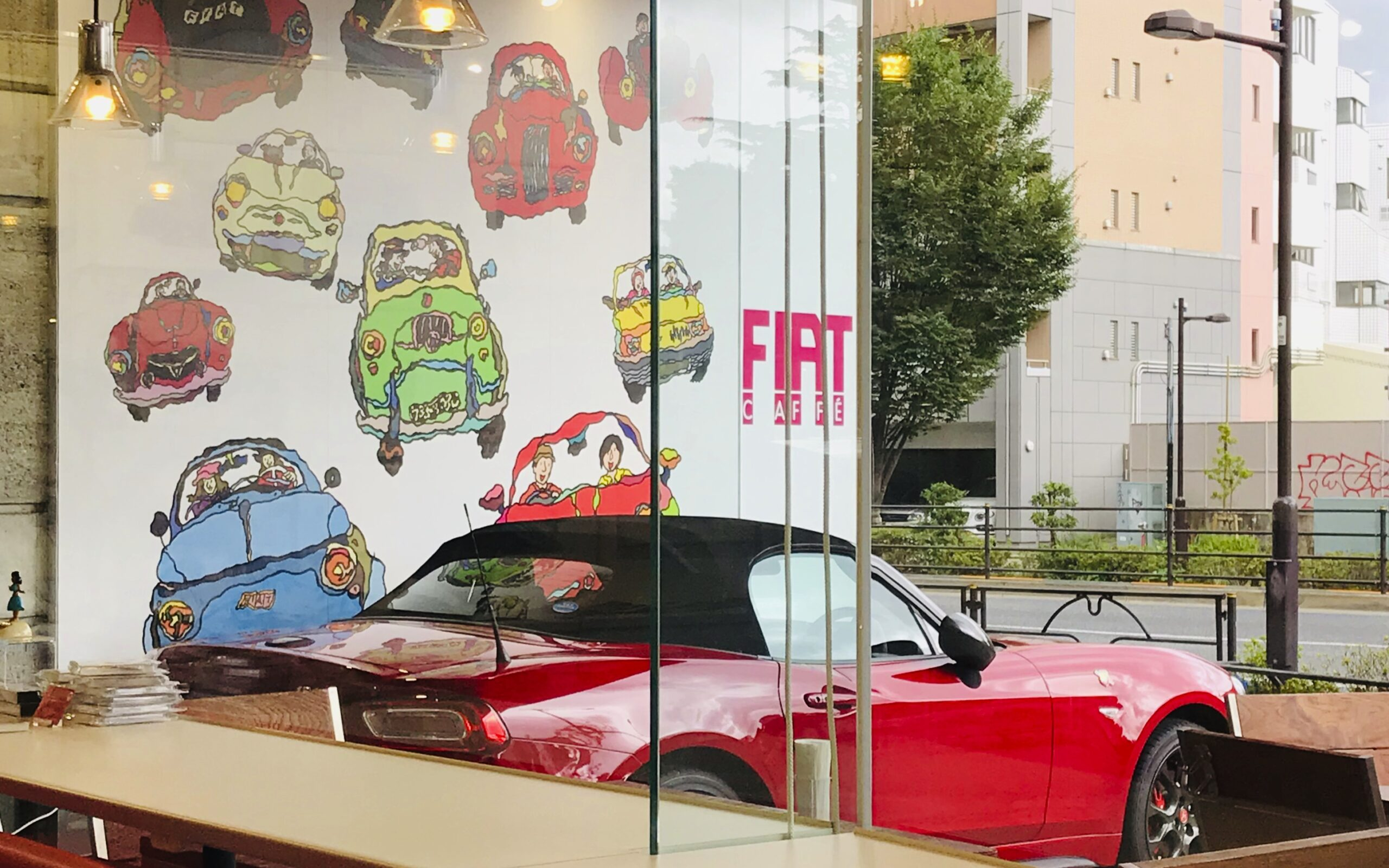 """<span class=""""up-title"""">クルマ通信5</span><span class=""""mid-title"""">FIAT CAFFÉ</span>"""